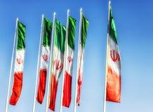 Islamska Republika Iran zaznacza falowanie w wiatrze obraz stock