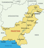 Islamska republika Pakistan - mapa ilustracja wektor