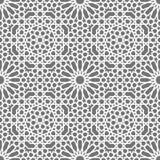 Islamski bezszwowy wektoru wzór Biali Geometryczni ornamenty opierający się na tradycyjnej arabskiej sztuce Orientalna muzułmańsk Fotografia Stock