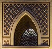 Islamski deseniowy okno Zdjęcie Royalty Free
