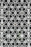 Islamski geometria wzór przy Masjid Negara ścianą Obraz Royalty Free