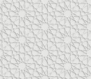 Islamski gwiazdowy wzór na białym tle Fotografia Stock