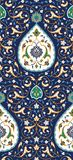 Islamski Kwiecisty Bezszwowy wzór dla twój projekta royalty ilustracja