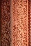 Islamski projekt sztuki filar w Fatehpur Sikri, Agra, India fotografia royalty free