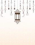 Islamski Ramadan o temacie tło z lampionami Obraz Royalty Free
