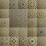 Islamski wzoru set 22 ornamentu Bezszwowy arabski geometryczny, wschodni ornament, hindus, perski motyw, 3D endless royalty ilustracja