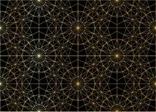 Islamskie Gwiazdowego wzoru Złote linie z białym tłem Zdjęcia Stock