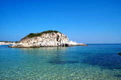 Island. Small island in Northern Greece stock photo