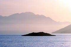 Island. Small island, adriatic sea, coast in Dalmatia Stock Photos