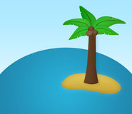 Island. Isolated island in the middle of the ocean Royalty Free Stock Image