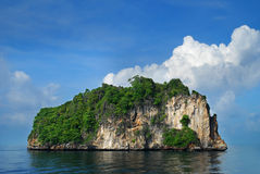 Island. With unique feature cliff in Krabi Thailand Stock Photography