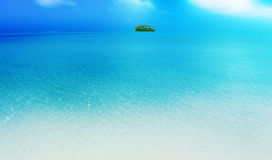 Island. A small island in the south pacific ocean Royalty Free Stock Photography