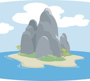 Island. An illustration of a mythical tropical island Stock Photo