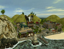 Island. 3d render of Island 1 Royalty Free Stock Image