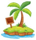 Island. Illustration of a tiny island Stock Image