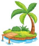 Island. Illustration of a tiny island Stock Photography