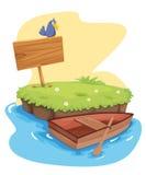 Island. Illustration of a tropical island Stock Image