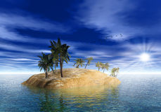 On the island. Royalty Free Stock Photography