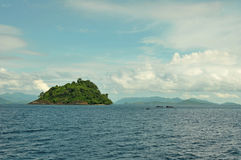Island. Private Island surrounded by sparkling clean warm water and sunshine Stock Photography