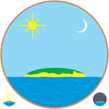 Island. An a vector illustration of Island . Files included: Illustrator 8 EPS and JPG Royalty Free Illustration