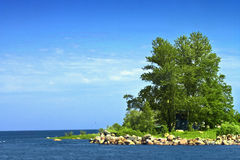 Island. View of the small island Stock Images