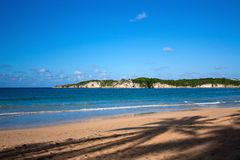 Island. Macao beach and deep blue sea Royalty Free Stock Photography