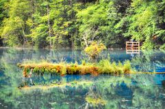 Island. Small island on the tibet lake Stock Images