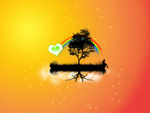 Island. Nice wallpaper whit love and women Royalty Free Stock Photo