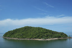 Island. Small island on the calm sea,Chantaburi, Thailand royalty free stock photos