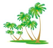 Island. Icon vector illustration, can be used as element of design Stock Images
