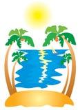 Island. Vector sun island .Nice peace Stock Photography