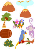 Island. Clip art for trasure island vector illustration