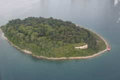 Island. From above Stock Photo