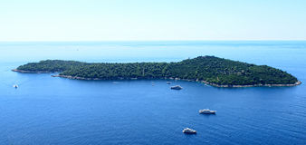 Island in the Adriatic Sea. Stock Photography