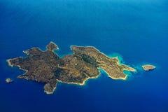 Island in Aegean Sea Royalty Free Stock Photos