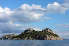 Island in Aegean sea. Turkey Royalty Free Stock Photography