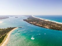 Island. Aerial view of an island royalty free stock photo