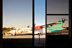 Island Air ATR 42 on apron in Honolulu International Airport Stock Images