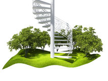 Island  in the air and stairs Royalty Free Stock Photography