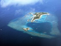 Island from airplane Royalty Free Stock Images