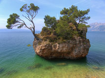 Island alone. Little island in Brela Croatia Stock Images