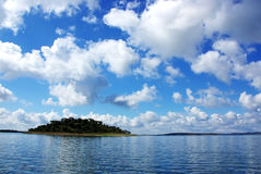 Island on Alqueva lake Stock Photography