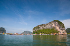 Island And Blue Sky At The South Of Thailand Royalty Free Stock Photography