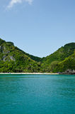 Island And Sea In The Gulf Of Thailand. Royalty Free Stock Photography