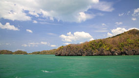 Island in Andaman sea against blue sky Royalty Free Stock Photos