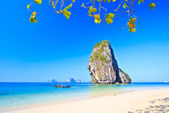Island in Andaman sea. Island at Railay in Krabi province of Thailand Royalty Free Stock Images