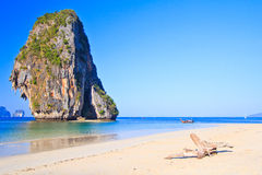 Island in Andaman sea. Island at Railay in Krabi province of Thailand Stock Photography