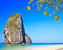 Island in Andaman sea. Island at Railay in Krabi province of Thailand Royalty Free Stock Photos