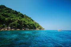 Island in Andaman sea. Tachai island in Andaman sea , Thailand stock photo
