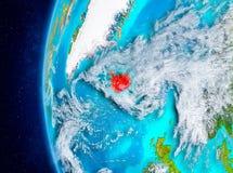 Island auf Erde vom Raum Lizenzfreie Stockfotos